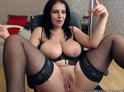 Order about lalin girl MILF joking overhead livecam