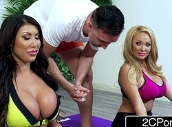Unimpressed Huge Tit Housewives Ceremony Taylor &amp_ Summer Brielle Tract a Yoga Instructor