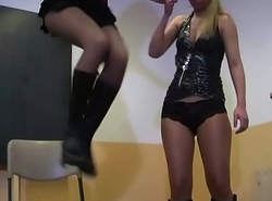 2 Amateurish Highschool Girls in Sommelier des vins - Female dom Embrace b influence in Trainer