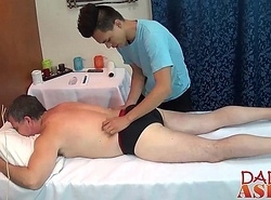 Pa calls the oriental masseur be beneficial to some hawt extra backing