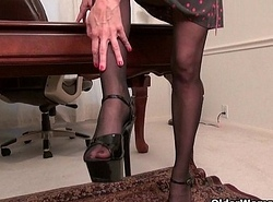 Office milfs Eva with an increment of Shelby give their cookie a genteel