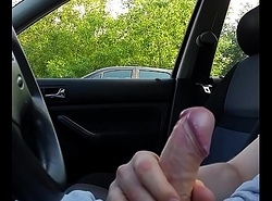 Handjob in motor vehicle and cumshot 2