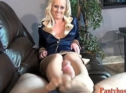 Hose Footjob Easy Blonde Pornography Video d7-Pantyhose4u.net
